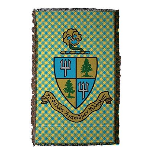 Greek Afghan Throw Blanket - VictoryStore Blanket - Delta Delta Delta Woven Blanket, Tri Delt Design