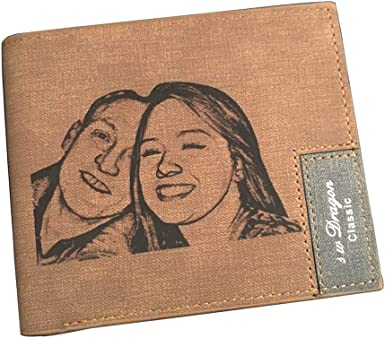 Personalized Wallet Custom Engraved Photo Wallets Purse Cow Leather