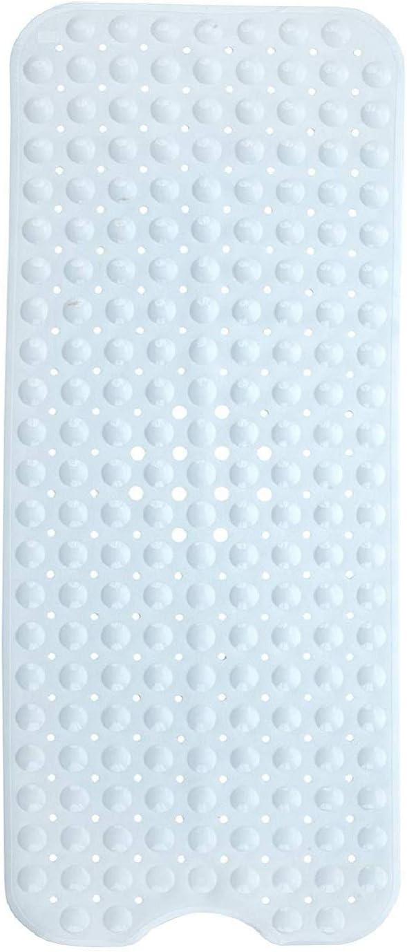 Domowin Alfombra Antideslizante de Baño, Alfombra para Bañera Antideslizante Alfombrilla de Baño con 200 Potentes Ventosas para Cuarto de Baño 100 x 40 CM (Blanco)