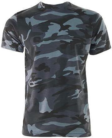 MILSPEC SURPLUS Juego Midnight Camuflaje Ejército Militar Camuflaje Camiseta FÁBRICA Seconds