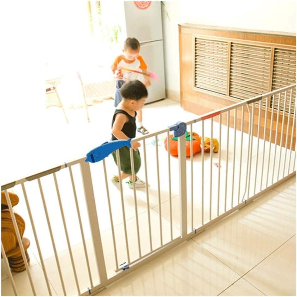 ベビーゲート 乳幼児の保護柵赤ちゃんの階段安全門バーペット犬のフェンスフェンスポールの単離ドア無料パンチング (Color : White, Size : 185-194cm)
