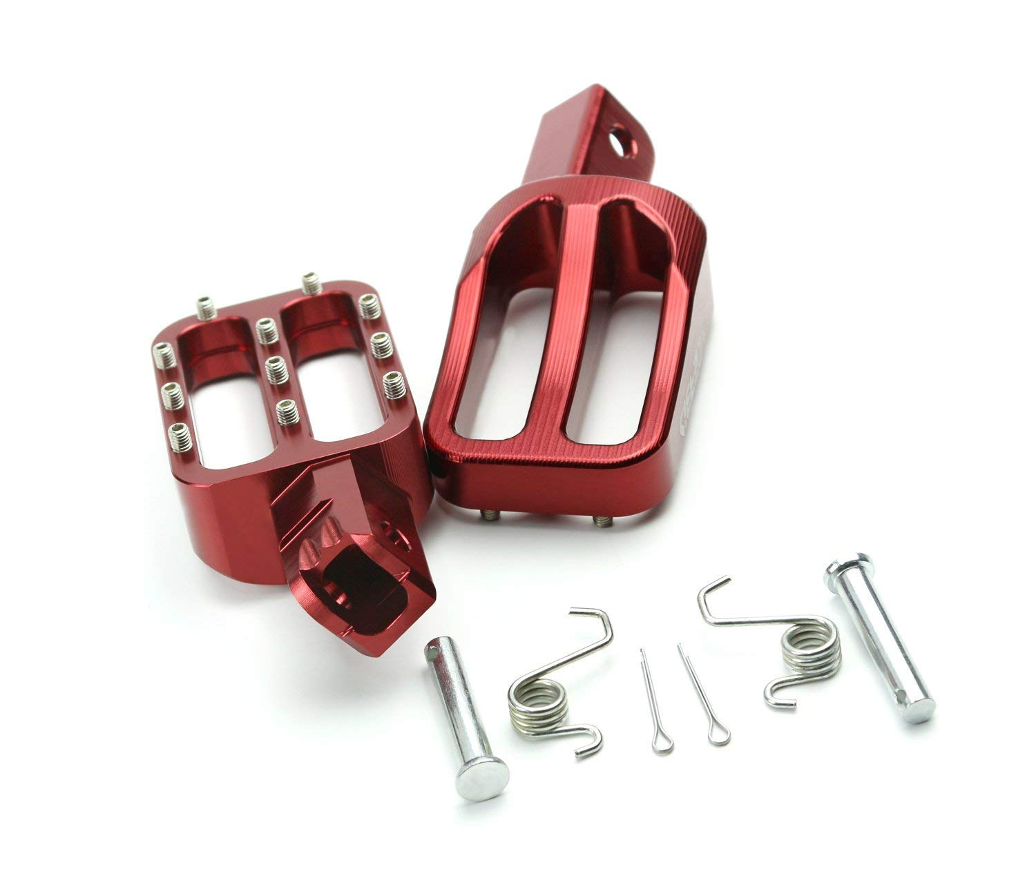 Foot Pegs Footpegs Footrest Pedals CNC Aluminum Foot Rests For For Honda CRF50 XR50 Pit Dirt Motor Trail Bike