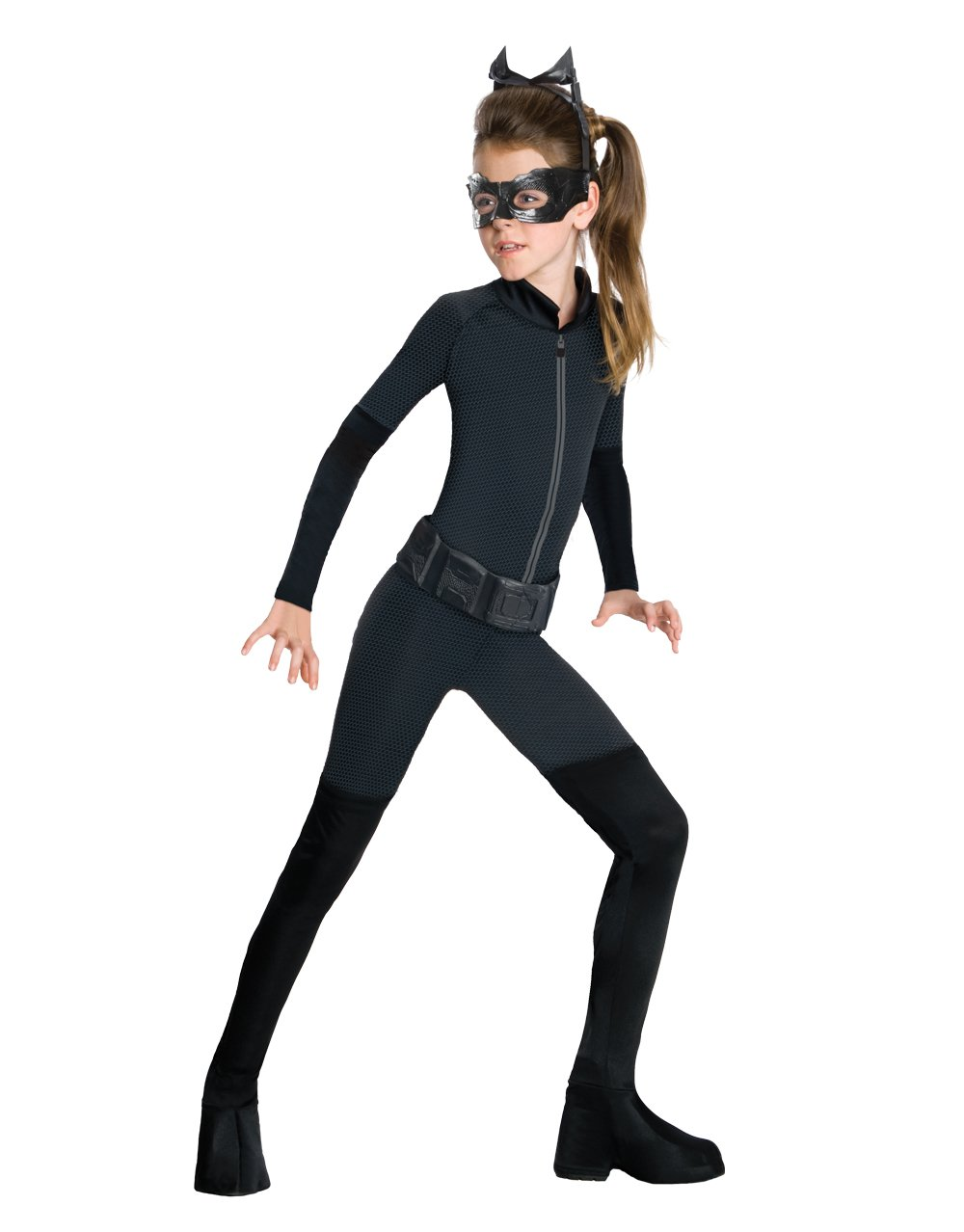 Catwoman Wig Batman Dark Knight Superhero Halloween Child Costume Accessory