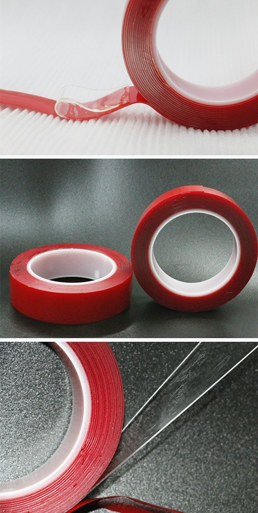 bestery Pet Cinta Acr/ílico de doble cara Espuma resistente Industrial transparente cinta de montaje
