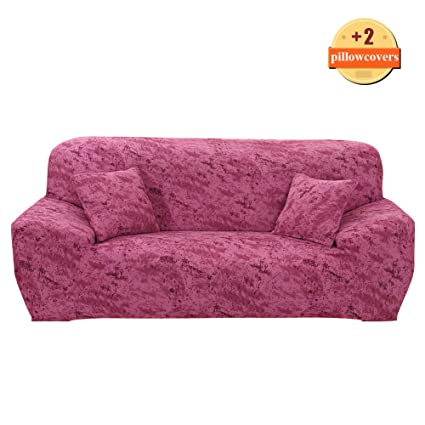 Miraculous Ihoming Printed Stretch Sofa Slipcover Loveseat Slipcover Couch Slipcover With 2 Free Pillow Covers 2 3 4 Seat Sofa Covers Loveseat Impression Red Unemploymentrelief Wooden Chair Designs For Living Room Unemploymentrelieforg
