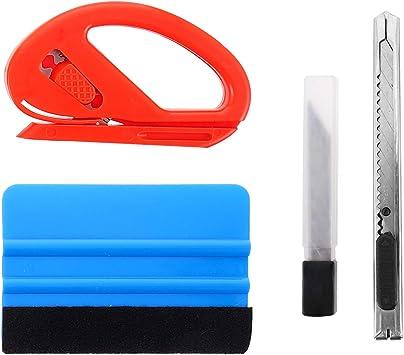 Doitool 1 Set Mit 4 Stück Auto Vinylfolien Werkzeug Kits Fensterfolien Installationsset Für Die Installation Von Autoaufklebern Baumarkt