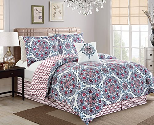 Chezmoi Collection REVERSIBLE Multi Color Quatrefoil product image