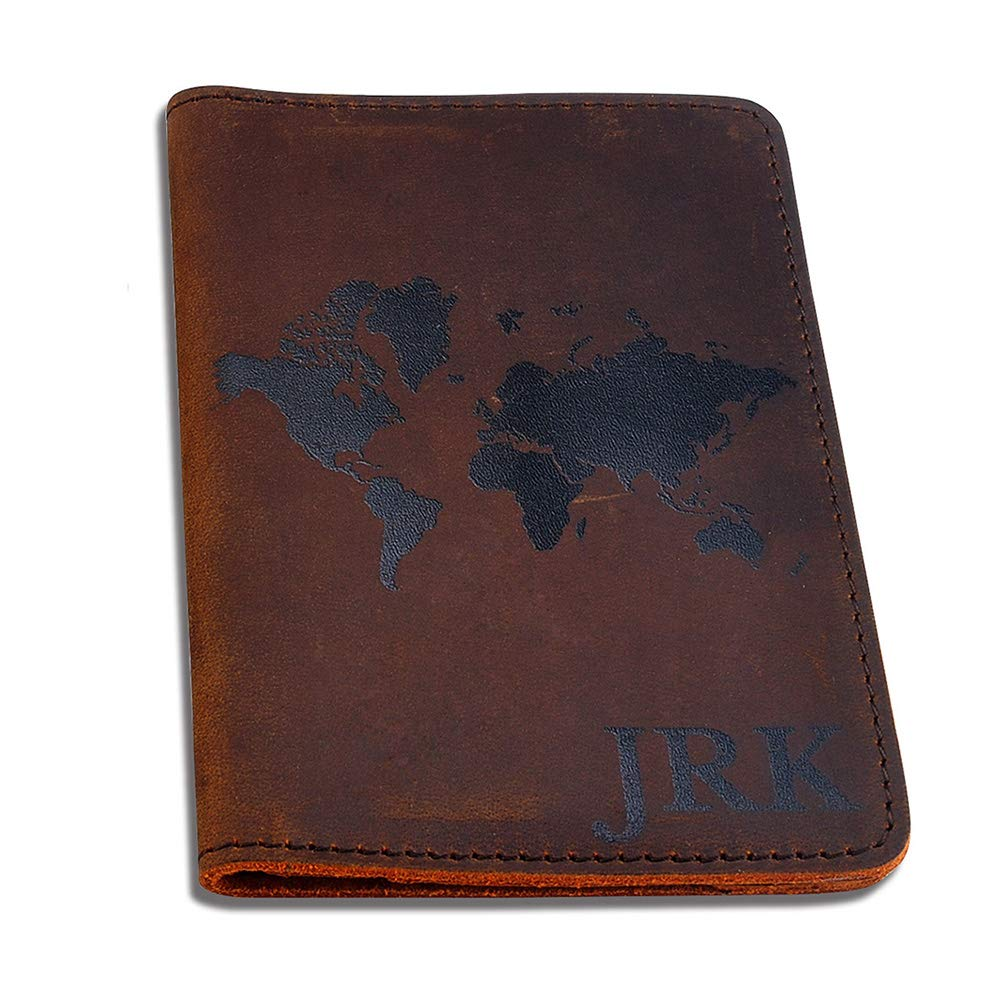 Personalized Genuine Leather Passport Cover; Custom Printed Passport Holder