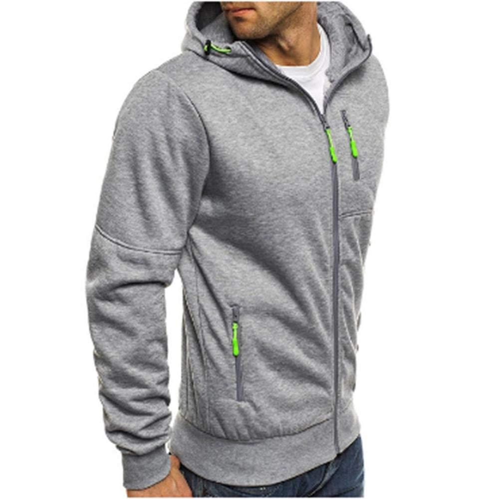 AJYJ Männer Hoodies Casual Sports Frühling Und Herbst Winter Langarm-Reißverschluss Cardigan Laufbekleidung