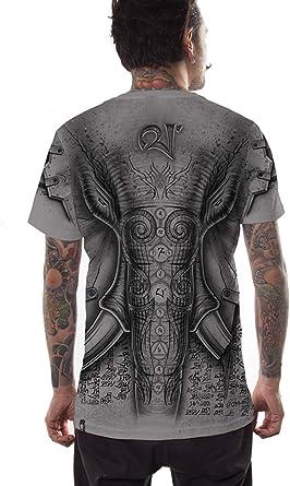 Camiseta Elefante - Ropa Urbana Exclusiva con serigrafía Original Frontal y Posterior para Hombre: Amazon.es: Ropa y accesorios