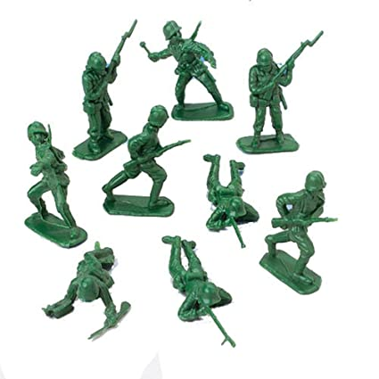 DELUXE BAG OF CLASSIC TOY GREEN ARMY SOLDIERS