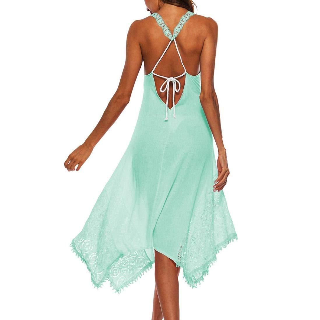 7b0530d3a9 Suit Skirt Elegant Lace Dress Women s Sleeveless Irregular Cocktail Dress  Sleeveless Casual Beach Dress Sundress Green Pink Black White Wild Tight  for Women ...