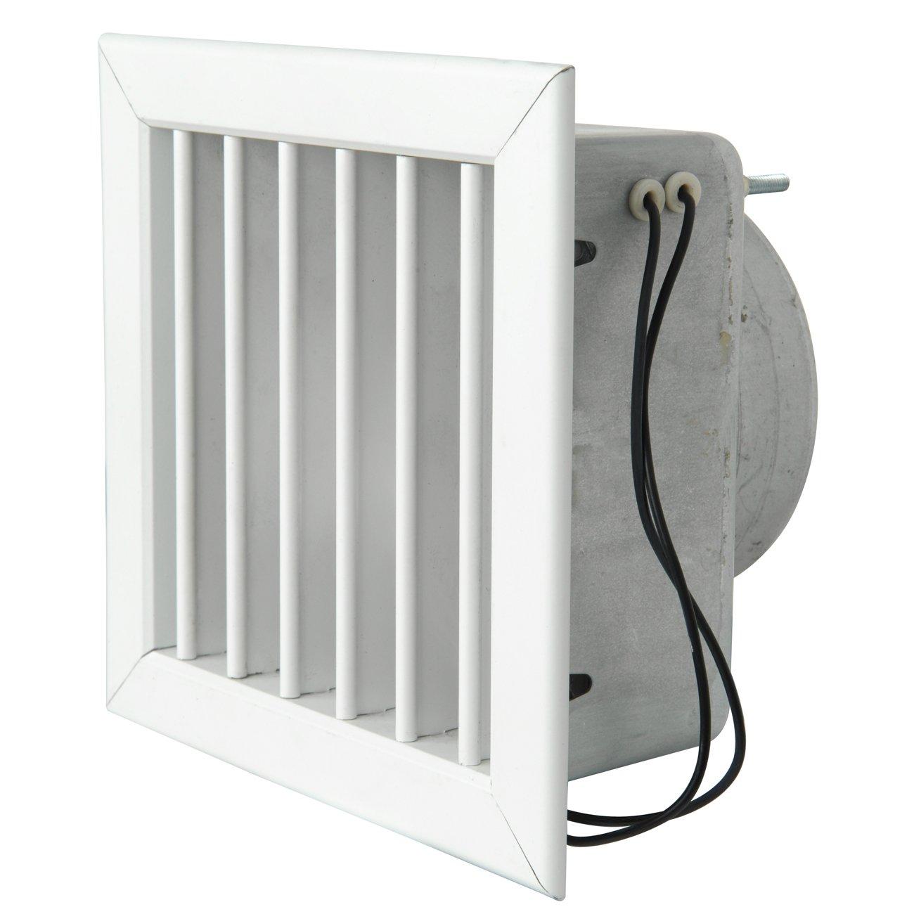 La ventilaci/ón gcmib1615100-y gcmib1615100/Rejilla Para chimeneas con elettroventola blanco aluminio lacado 160/x 160/mm