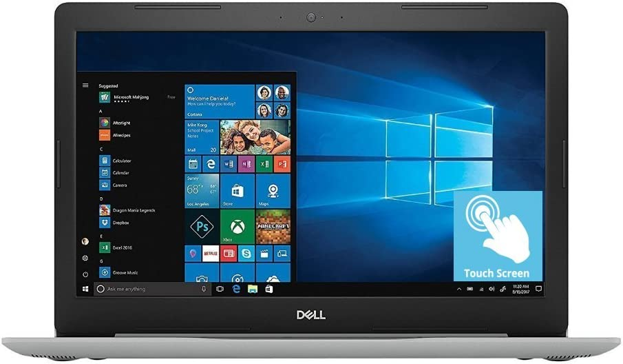 "2018 Dell Inspiron 15.6"" Full HD IPS Touchscreen Business Laptop, Intel Quad-Core i5-8250U up to 3.4GHz 12GB DDR4 1TB HDD DVDRW MaxxAudio Pro 802.11ac Bluetooth Backlit Keyboard Win 10"