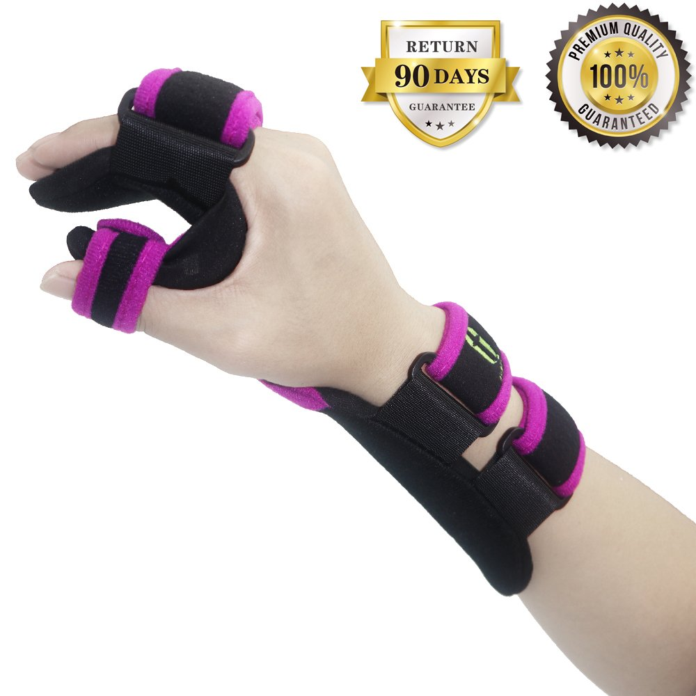 Function Resting Wrist Orthosis Night Hand Splint Support Immobilizer Finger Wrist Fracture Fixation Scaffold for Pain Tendinitis Sprain Fracture Arthritis Dislocation (Left)