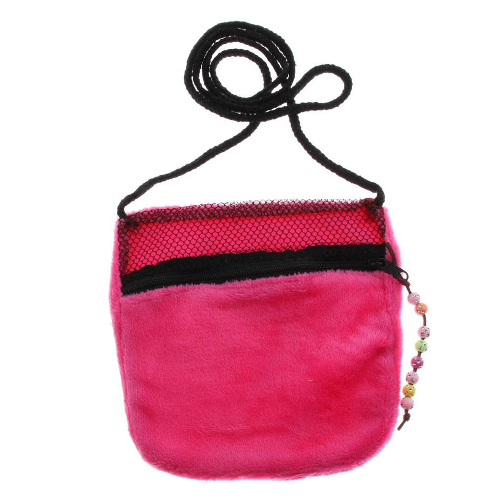 B Blesiya Carry Pouch Sleep Bag for Sugar Glider Hamster Mice and Other Small Pets - Pink