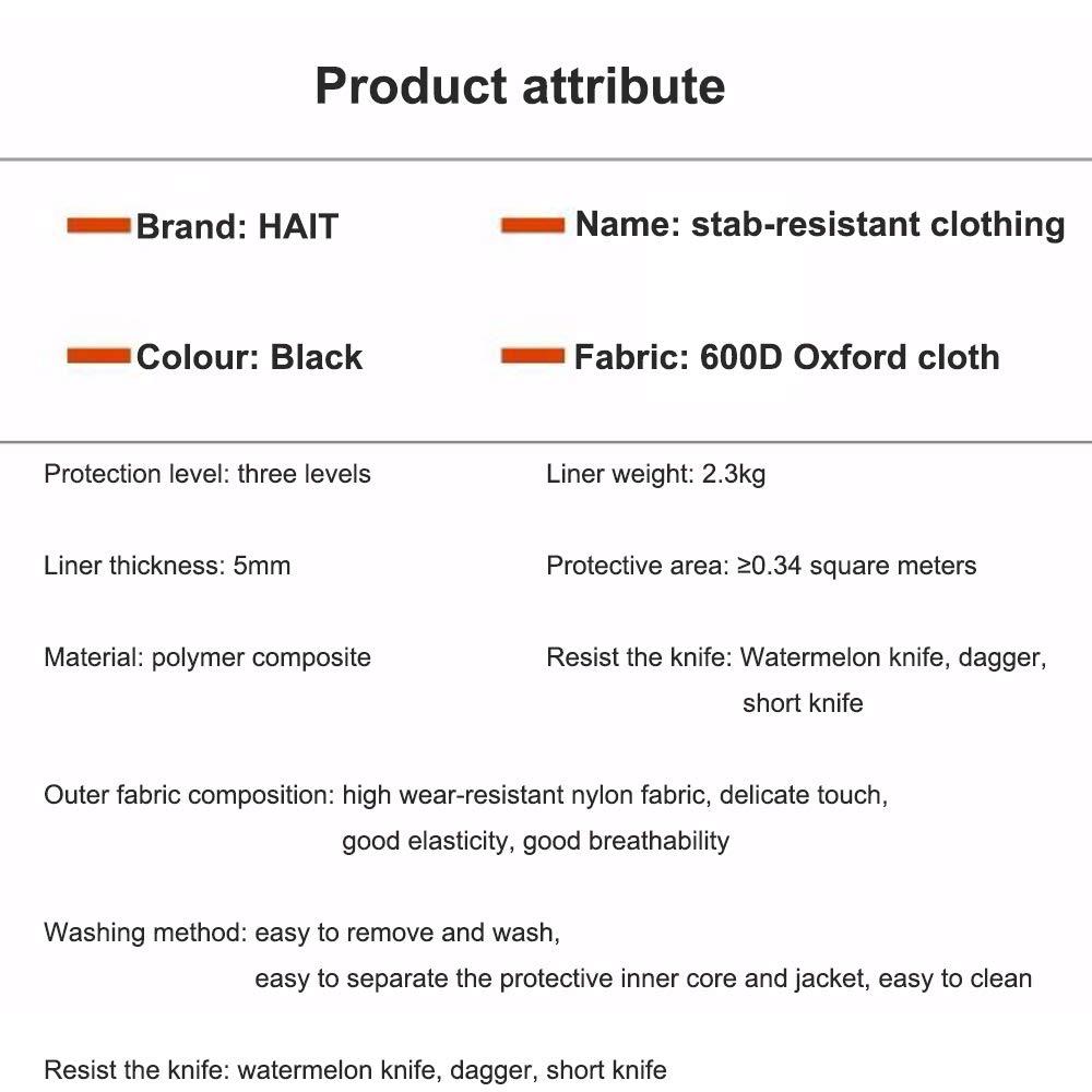 Weiche unsichtbare Weste Abnehmbarer Kern Sicherheitskleidung,L HAIT Stichbest/ändige Weste Lockerer Stil