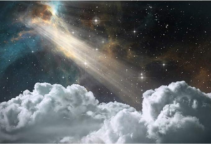 YongFoto 8x6ft Night Starry Sky Photo Backdrop Trees Forest Shadow Cucoloris Fantastic Nebula Galaxy Universe Star Field Photography Background Artistic Portrait Photo Studio Props Vinyl Photobooth