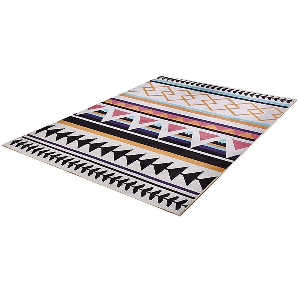 居間の寝室のベッドサイドの滑り止めのカーペットの方法台所マットのドアマットのための洗濯できる敷物パッド(色:B、サイズ:1.6 * 2.3m) B07SST81WJ B 1.6*2.3m