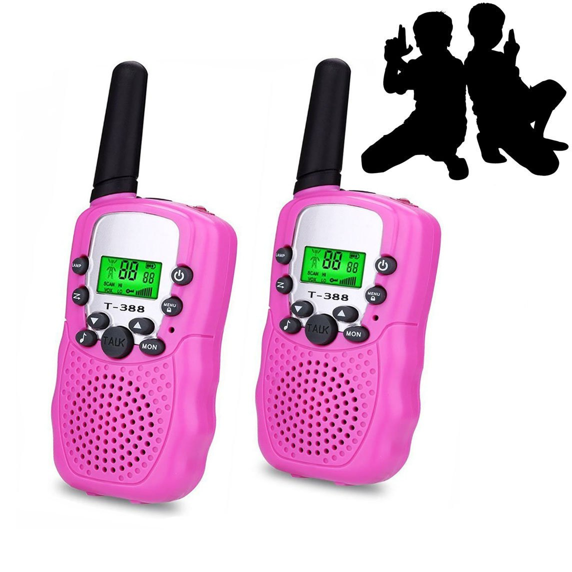 JRD&BS WINL Best Gifts for Kid,Gifts for Girl 8 Year Old, Walkie Talkies for Kid,Cool Toys for 4-5 Year Old Boys,1 Parir (Pink)