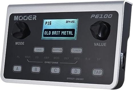 Muslady MOOER PE100 Procesador Multiefectos Portátil Pedal de ...
