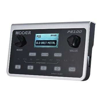 Muslady MOOER PE100 Procesador Multiefectos Portátil Pedal de Efectos de Guitarra 39 Efectos 40 Patrones de Batería 10 Metrónomos Tap Tempo: Amazon.es: ...