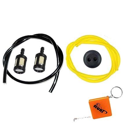 HURI - 2 filtros de gasolina con mangueras y junta para ...