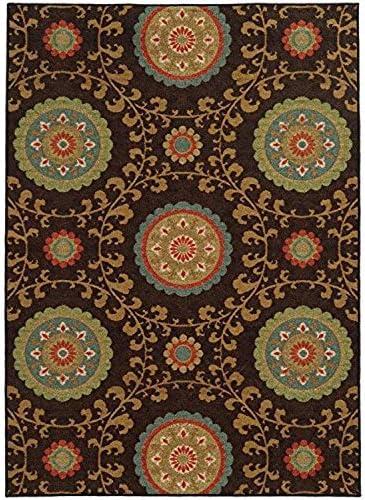 Oriental Weavers 15757 Arabella Area Rug, 7-Feet 10-Inch by 10-Feet, Multi Colored