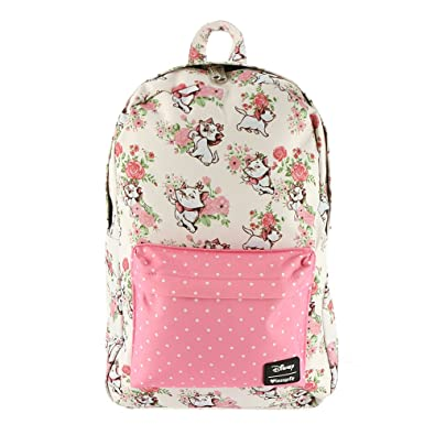 dd9791e244e Amazon.com  Loungefly x Disney Marie Floral AOP Backpack (One Size ...