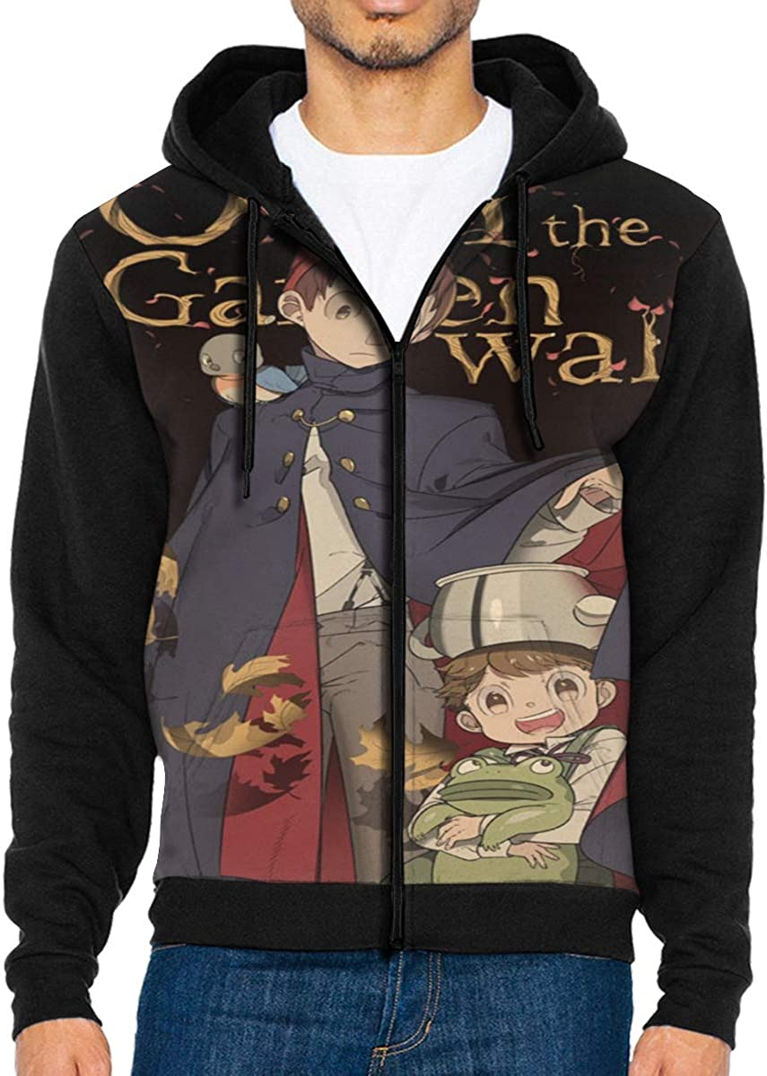 Glenn Isidore Over The Gar-den W-All Mens Full-Zip Hooded Sweatshirt Pullover Hoodie Casual Hoodie with Pockets