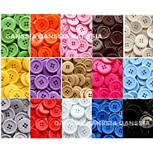 GANSSIA 15 Colors Buttons 7/8'' (22.5mm) Sewing Button Multi Colored Pack of 105 with Box ( Each Color 7 Pcs)