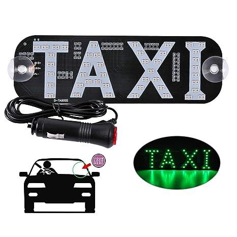 Amazon.com: Taxi LED señal de decoración, LED Taxi señal con ...
