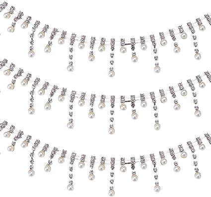 1 METRI Diamonte Strass Catena Di Cristallo-Scegli Colori e Dimensioni