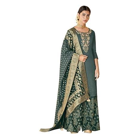 Dupatta 8552 - Traje de Seda para Mujer con Bordado de ...