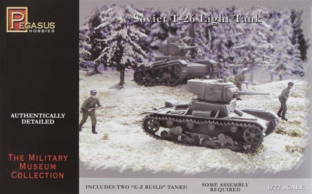Russian T-26 Light Tanks Miniature 20mm WWII Pegasus