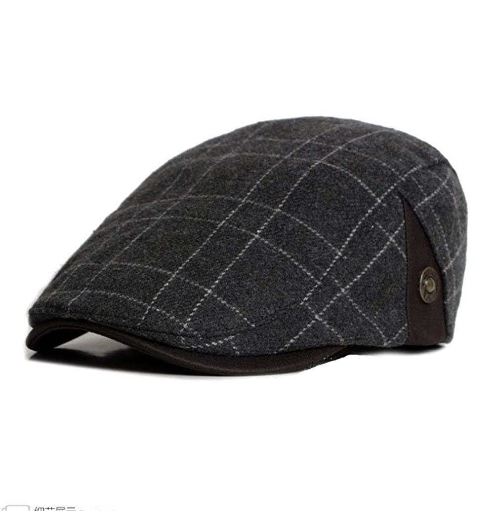 doublebulls hats Flat Cap Cotton Men Winter Plaid Vintage newsboy Gatsby IVY Caps Irish Hats
