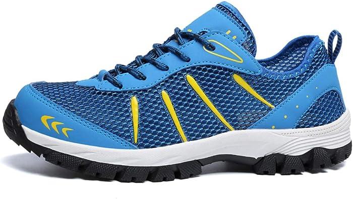 Casual Zapatillas de Trekking para Correr Sneakers Zapatos de Deporte Hombre Azul EU43=CN44: Amazon.es: Zapatos y complementos
