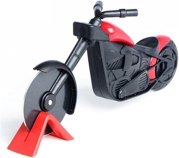 Hotaluyt Motorrad-Edelstahl-Kunststoff-Pizzaschneider Geb/äck Motorrad-Rad-Chopper Slicer
