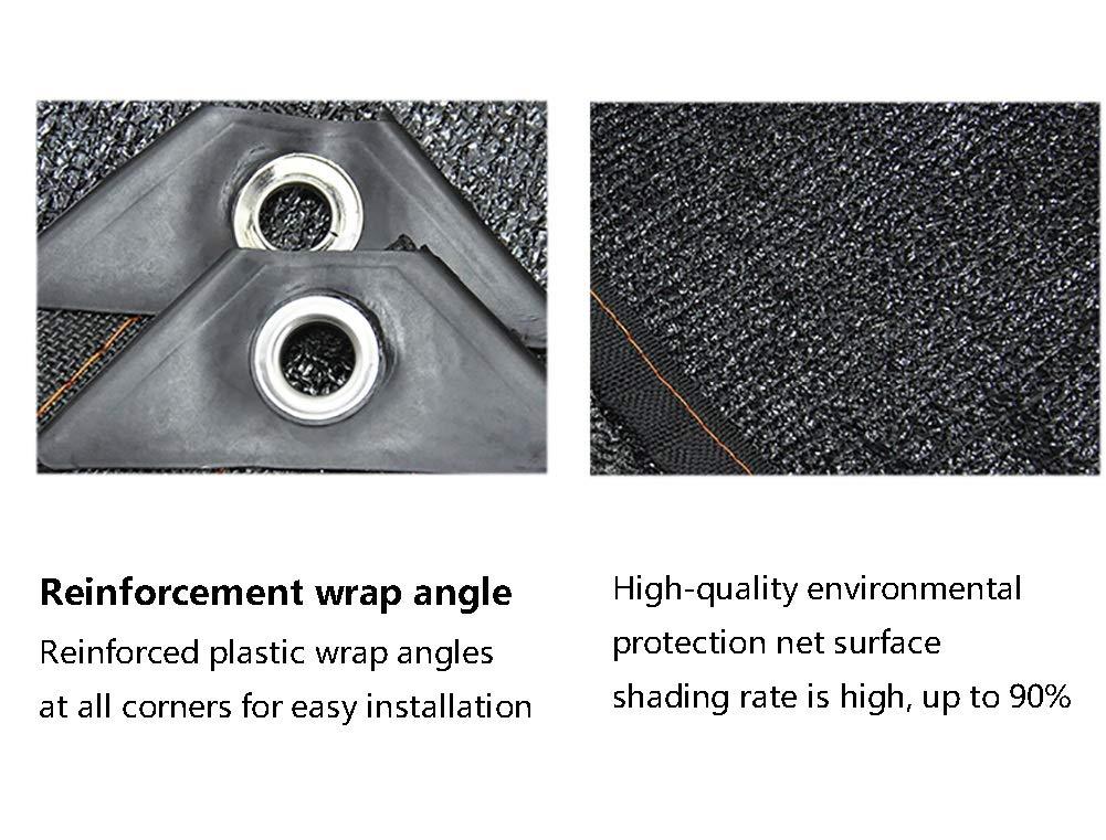 Panno Ombreggiante Black Sun Mesh Rete Resistente Ai Raggi UV del 90/% Bordo con Occhielli per Piante da Giardino Dimensioni : 2x2m