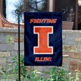 College Flags and Banners Co. Illinois Fighting Illini New Logo Garden Flag