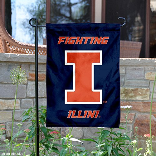 College Flags and Banners Co. Illinois Fighting Illini New Logo Garden ()