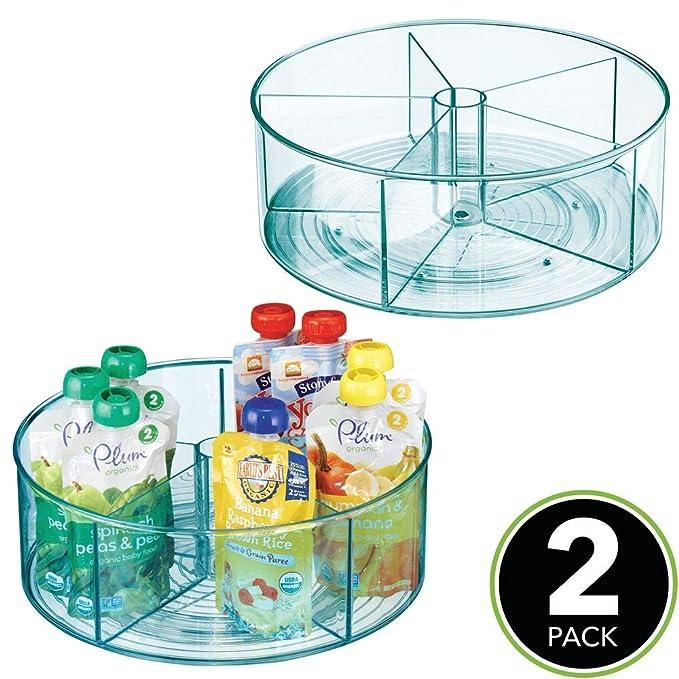 Amazon.com: mDesign - Contenedor de almacenamiento de mesa ...