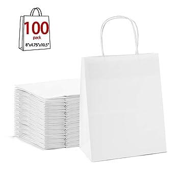 Amazon.com: GSSUSA - Bolsa de papel de estraza marrón de 7.9 ...