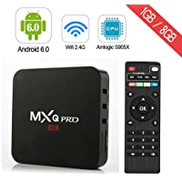 MXQ Pro TV Box Android Amlogic S905X Quad Core Support WiFi LAN Android Box (MXQPRO)