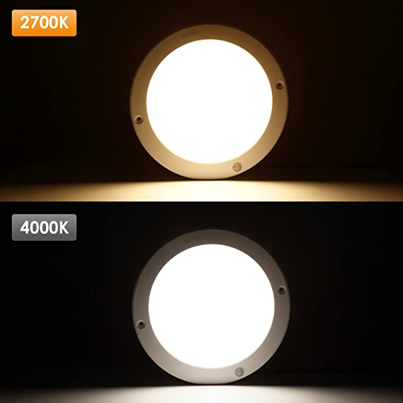 Lámpara de Techo LED con Sensor de Movimiento, de 18 W, de la Marca Albrillo, Daylight White (Motion Activated), 1: Amazon.es: Iluminación