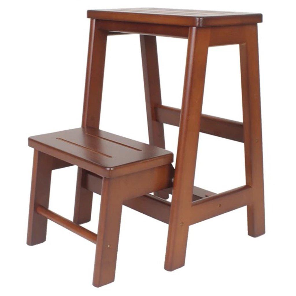 ウッドステップラダー子供用大人、キッチンベッドルームバス多目的ラダーシェルフ (色 : Brown, サイズ さいず : 2 step) B07FBXKD4M 2 step|Brown Brown 2 step