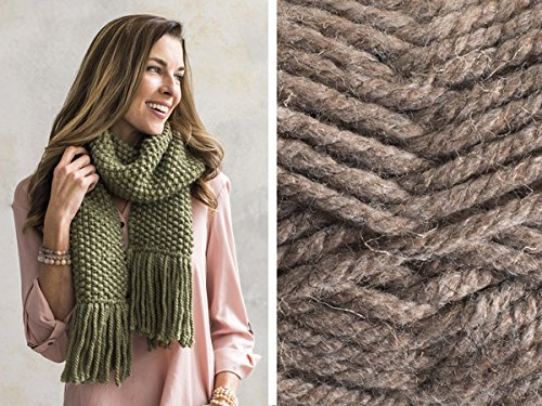 Craftsy Sprightly Quick and Easy Seed Stitch Scarf or Cowl Knitting Kit (Bark)