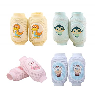 New Baby Knee Pads Indoor Infant Crawling Leg Elbow Cushion Adjustable Protector