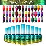 Fairy Glo (Pick Any 30 Colors ) Gel Nail Polish UV LED Thermal Temperature Changing Colour Soak Off Maniure Decor Nail Lacquer Art Kit Hotsale 12ml