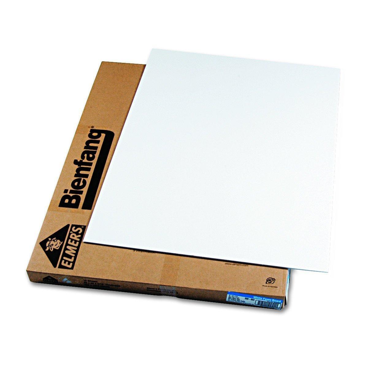 Elmer's 900803 Foam Board, White Surface with White Core, 30 x40, 10 Boards/Carton